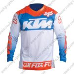 2016 KTM FOX Motocross MTB Riding Jersey Orange Blue White