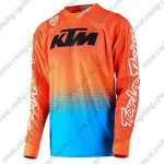 2016 KTM TLD Motocross MTB Riding Jersey Orange Blue