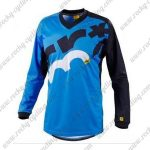 2016 MAVIC MTB Riding Long Sleeves Jersey Blue Black