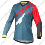 2016 MAVIC MTB Riding Long Sleeves Jersey Grey Red