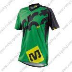 2016 MAVIC MTB Riding Short Sleeves Jersey Green Black