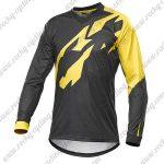 2016 MAVIC Motocross Racing Long Sleeves Jersey Black Yellow
