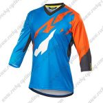2016 MAVIC Motocross Racing three-quarter Sleeves Jersey Blue Orange