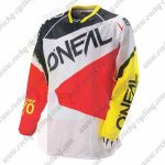 2016 ONEAL Motocross MTB Apparel Racing Jersey Black White Red Yellow