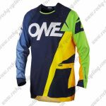 2016 ONEAL Motocross MTB Apparel Racing Jersey Blue Yellow Green