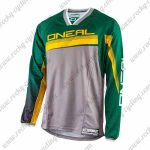 2016 ONEAL Motocross MTB Apparel Racing Jersey Green Grey