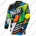 2016 ONEAL Motocross MTB Apparel Racing Jersey Green Orange Colorful
