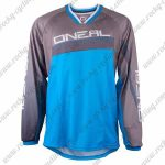 2016 ONEAL Motocross MTB Apparel Racing Jersey Grey Blue