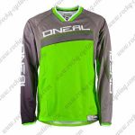 2016 ONEAL Motocross MTB Apparel Racing Jersey Grey Green