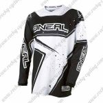 2016 ONEAL Motocross MTB Mountain Biking Jersey Black White Stars