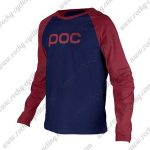 2016 POC Downhill MTB Riding Jersey Red Blue