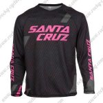 2016 SANTA CRUZ Downhill MTB Riding Long Sleeves Jersey Black Pink