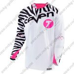 2016 Seven MTB Apparel Off Road Jersey White Black Pink