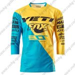 2016 YETI FOX Motocross MTB Apparel Racing Jersey Shirt Yellow Blue