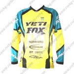 2016 YETI FOX Motocross Racing Jersey Shirt Yellow Blue