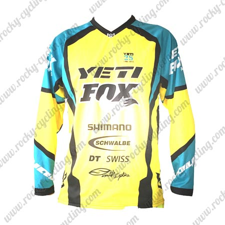 2016 YETI FOX Motocross Racing Jersey Shirt Yellow Blue · 2016 YETI FOX MTB  ... 787897f02