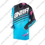 2017 ANSR Alpha Motocross MTB Apparel Off Road Jersey Black Blue