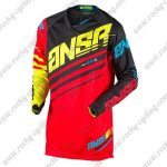 2017 ANSR Alpha Motocross MTB Apparel Off Road Jersey Black Red Yellow