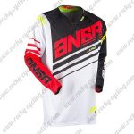 2017 ANSR Alpha Motocross MTB Apparel Off Road Jersey Black White Red