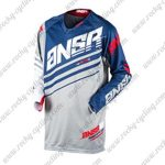 2017 ANSR Alpha Motocross MTB Apparel Off Road Jersey Blue Grey