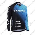 2017 CANYON Motocross MTB Wear Racing Jersey Black Blue