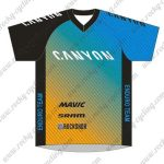 2017 CANYON Motocross Racing Jersey Black Yellow Blue