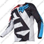 2017 FOX Nirv 180 Motocross Racing Jersey Shirt Black White Red