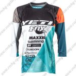 2017 YETI FOX Motocross MTB Apparel Off Road Jersey Black White Blue