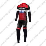 2016 Team etixxl QUICK STEP Cycling Long Suit Red Black