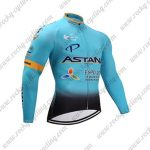 2017 Team ASTANA Cycling Long Jersey Blue Black