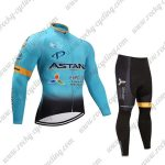 2017 Team ASTANA Cycling Long Suit Blue Black