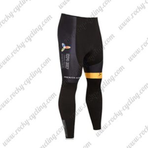 2017 Team ASTANA Riding Long Pants Tights Black
