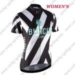 2017 Team BIANCHI Womens Cycling Jersey Maillot Shirt Black White Blue