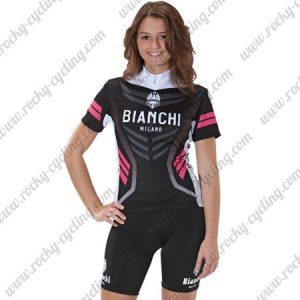 2017 Team BIANCHI Womens Cycling Kit Black Pink