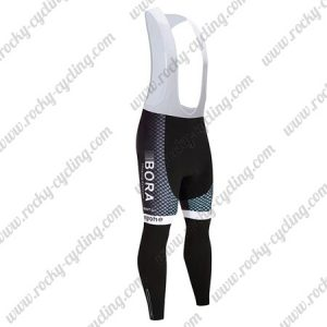 2017 Team BORA hansgrohe Cycling Long Bib Pants Tights Black Blue