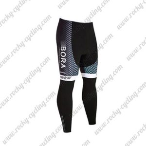 2017 Team BORA hansgrohe Cycling Long Pants Tights Black Blue