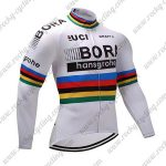 2017 Team BORA hansgrohe UCI Champion Cycling Long Jersey White Rainbow