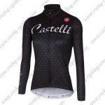 2017 Team Castelli Women's Cycling Long Jersey Black