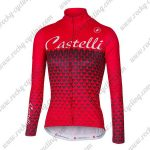2017 Team Castelli Women's Cycling Long Jersey Red