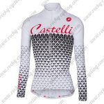 2017 Team Castelli Women's Cycling Long Jersey White