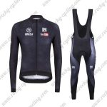 2017 Team GCN Cycling Long Bib Suit Black