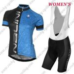 2017 Team Nalini Women's Cycling Bib Kit Black Blue