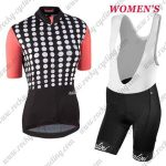 2017 Team Nalini Women's Cycling Bib Kit Black Red