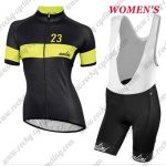 2017 Team Nalini Women's Biking Kit Black Yellow