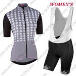 2017 Team Nalini Women's Cycling Bib Kit Grey