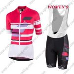 2017 Team Nalini Women's Cycling Bib Kit Pink White