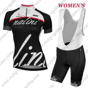2017 Team Nalini Women's Cycling Bib Kit White Black