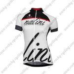 2017 Team Nalini Women's Cycling Jersey Maillot Shirt Black White