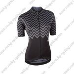 2017 Team Nalini Women's Cycling Jersey Maillot Shirt Grey Black