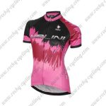 2017 Team Nalini Women's Cycling Jersey Maillot Shirt Pink Black